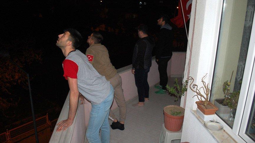 Tekirdağ ve Kırklareli'de gökyüzünde görülen esrarengiz ışık panik yarattı!