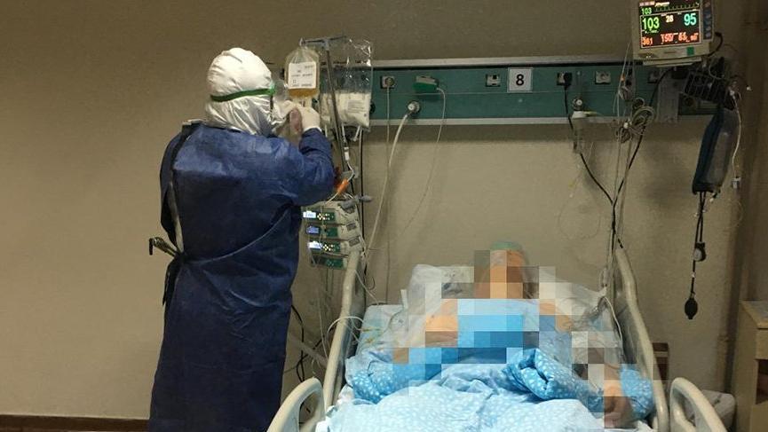 Corona şüphelisi hastaneden kaçmak isterken canından oldu