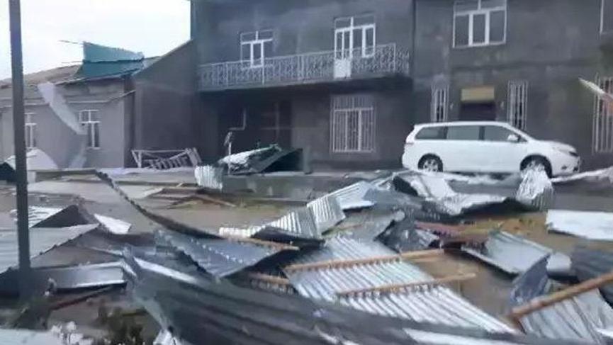 Türkmenistan'ı fırtına vurdu!