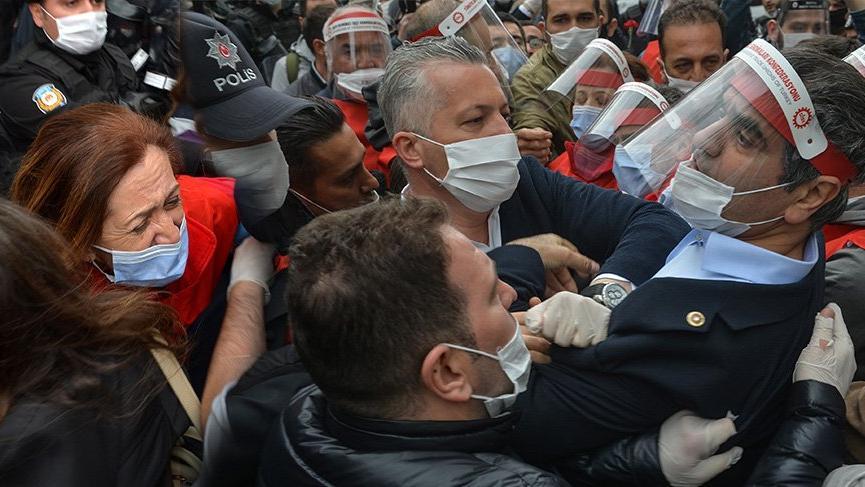 Taksim'e yürümek isteyen DİSK yöneticileri gözaltına alındı