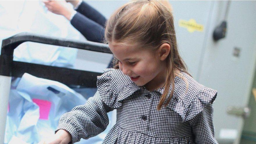 Prenses Charlotte, kapı kapı dolaşıp yiyecek dağıttı
