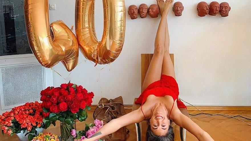 Eda Taşpınar, 40. yaşını evde kutladı