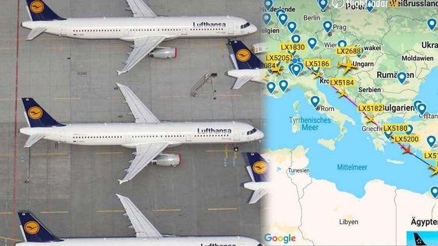 Coronada alışılmadık trafik! İsviçre'den Ürdün'e onlarca uçak gidiyor