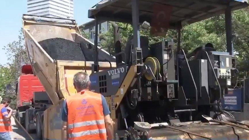 İBB, yol bakım ve onarım çalışmalarını sürdürüyor