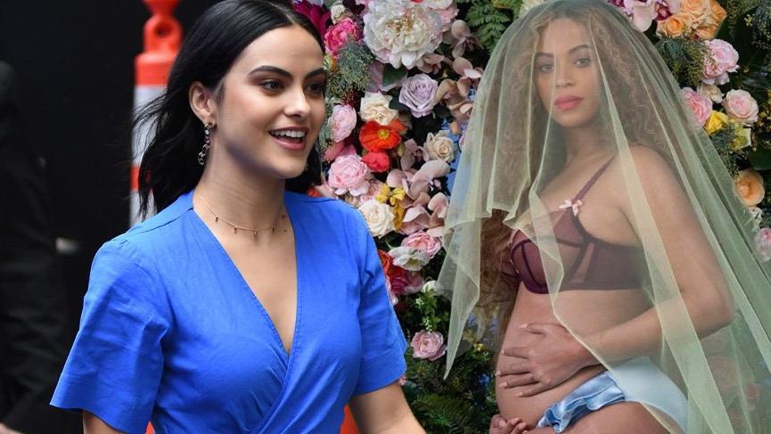 Camila Mendes Beyonce'nin hamilelik pozu ile dalga geçti