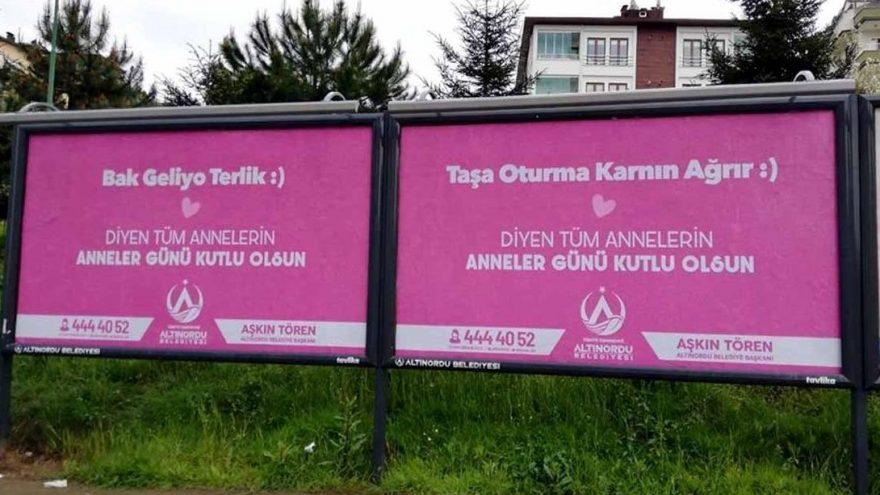 Belediyeden gülümseten Anneler Günü afişi: Bak geliyor terlik