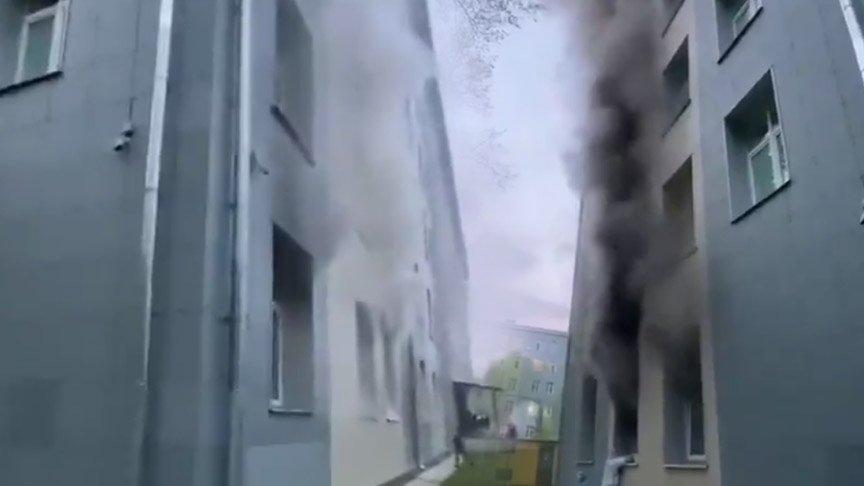 Corona hastalarının bulunduğu hastanede yangın!