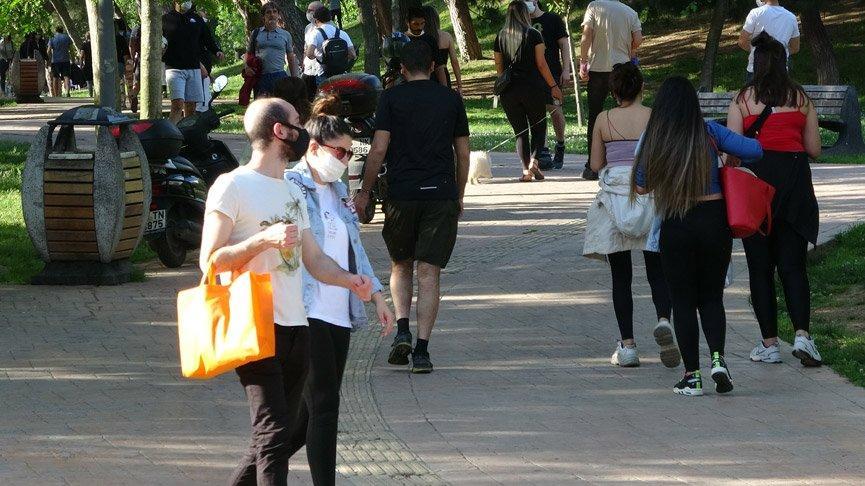İstanbul'da şok görüntüler! Maçka Parkı'na akın ettiler