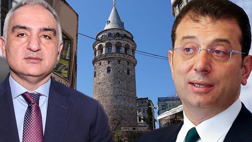 İmamoğlu'ndan Kültür Bakanı'na Galata Kulesi mektubu: Hukuksuz ve hakkaniyetsiz!