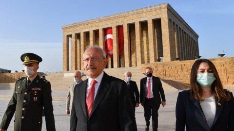 CHP lideri Kılıçdaroğlu Anıtkabir'i ziyaret etti!