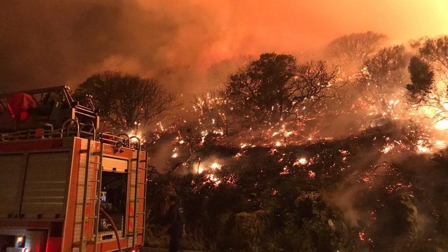 Antalya'nın Kaş ilçesinde orman yangını