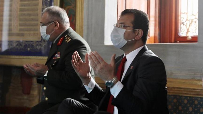 İmamoğlu, İstanbul'un fethi kutlamalarına katıldı, dua okudu