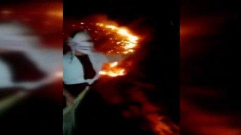 Zagros Dağları'nda çıkan yangın günlerdir söndürülemedi!