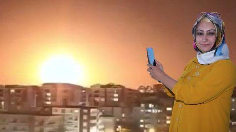 Meteor düşmesi sanılan doğa olayını görüntüleyen kadın: O an korkmadım