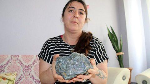 Çilek toplarken buldu, 'meteor' diyor...