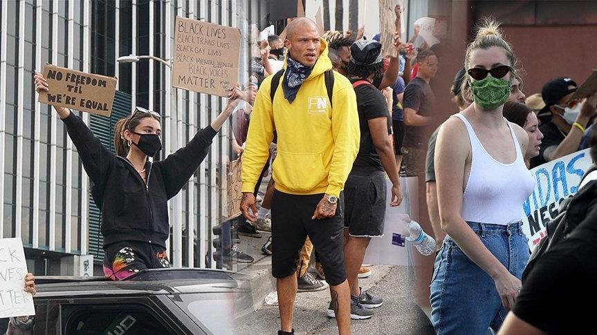 ABD'de George Floyd için adalet ve polis şiddetine karşı protestolara ünlülerden tam destek