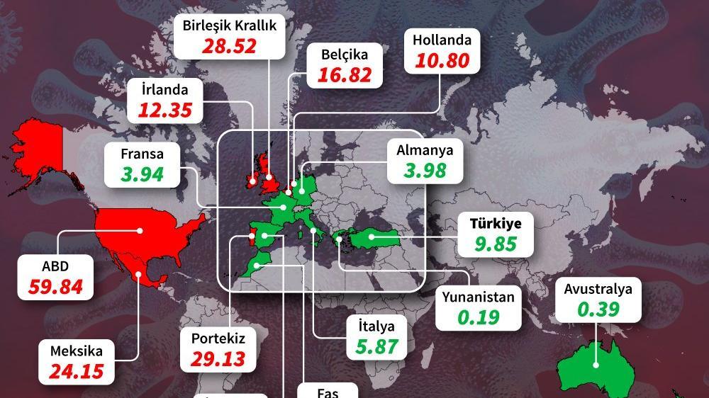Ülke bu corona virüsü haritasını konuşuyor: Türkiye de listede yer alıyor