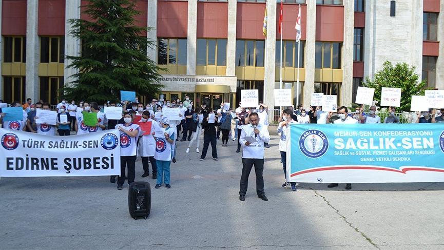 Sağlık çalışanlarından Sağlık Bakanlığı'na tepki