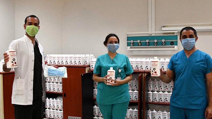 Devlet hastanesi, kendi dezenfektanını üretiyor