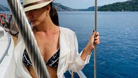Demet Özdemir'in bikinili pozuna yarım milyonu aşkın beğeni...