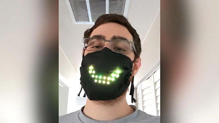 Corona virüsü salgınına karşı sıra dışı maske!