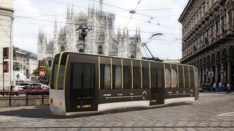 Sosyal mesafeli tramvay tasarlandı