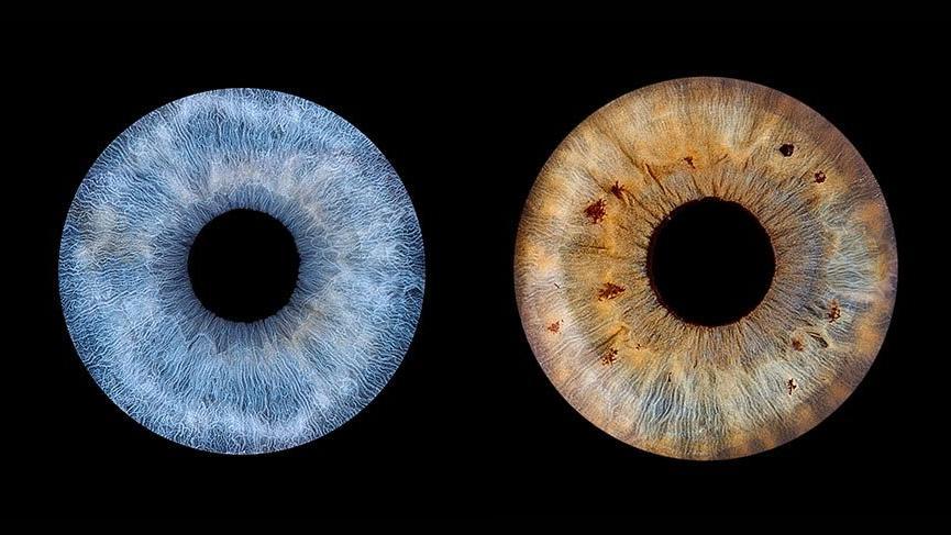 Göz irisini sanata çeviren çekimler