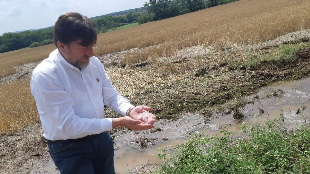 Kırklareli'nde tarım arazilerini dolu vurdu, sigortasız çiftçi yardım bekliyor