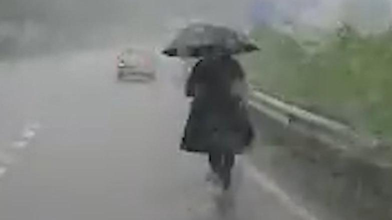 Giresun Baro Başkanı'nı şiddetli yağmur bile durdurmadı