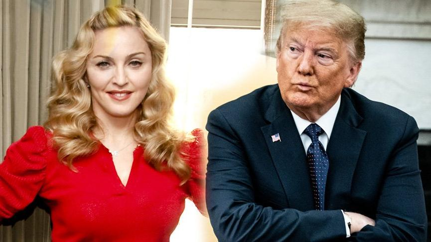Madonna'dan Donald Trump'a sert çıkış: Nazi, sosyopat