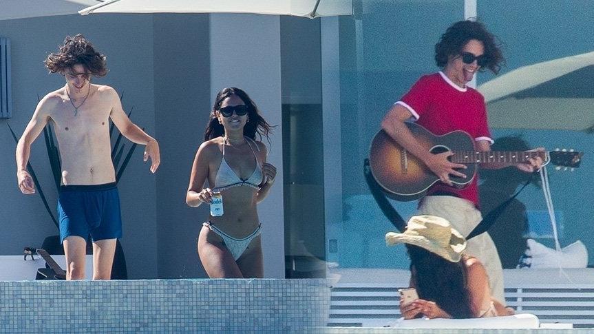 Eiza Gonzalez ve Timothee Chalamet çifti tatilde görüntülendi