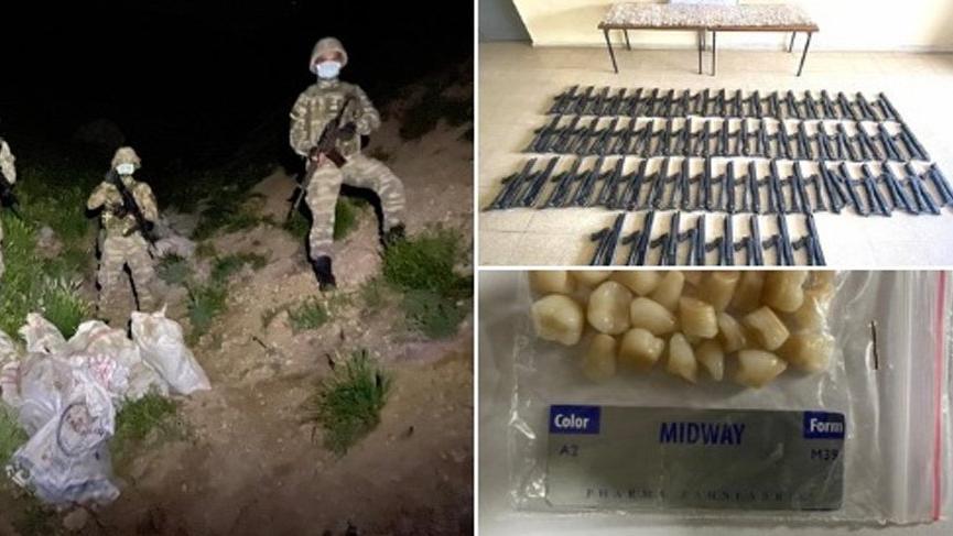 Hakkari sınırında silah ve tıbbi malzeme ele geçirildi