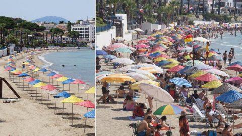 Plajlara akın ettiler! Sosyal mesafe ve maske unutuldu