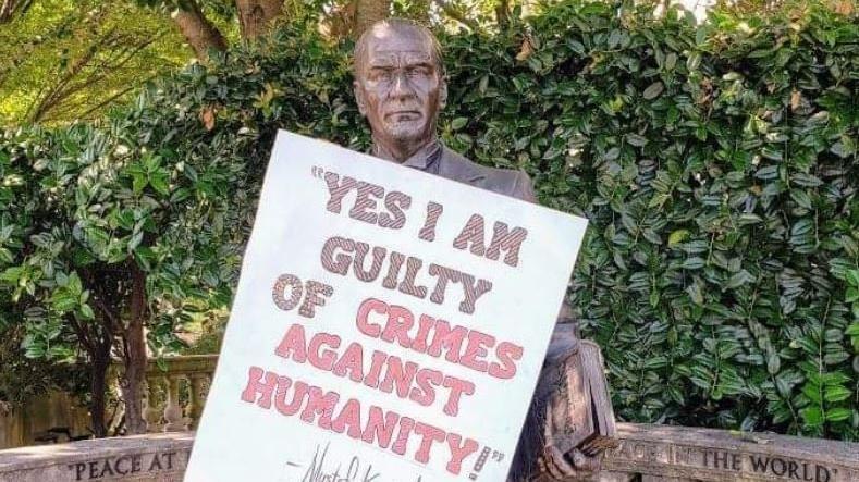 Son dakika… ABD'nin başkentinde Atatürk'e saygısızlık: Bunun adı rezalet