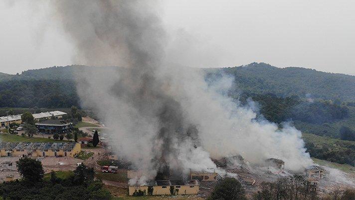 Sakarya'da şiddetli patlama! Bakanlar bölgeye gidiyor