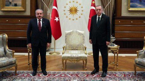Erdoğan'dan Mustafa Şentop'a tebrik telefonu!