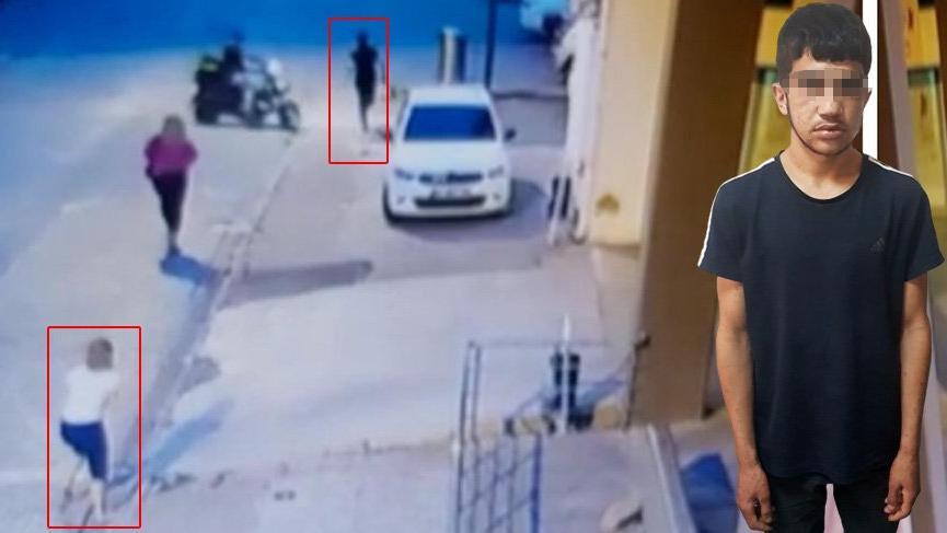 Kadının elindeki telefonu çaldı… Yakalandı!
