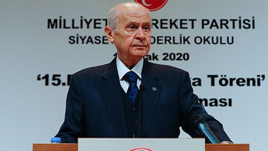 MHP lideri Bahçeli'den Ayasofya açıklaması!