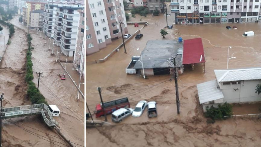 Köy muhtarı: Sel sularında 2 kişi kayboldu!