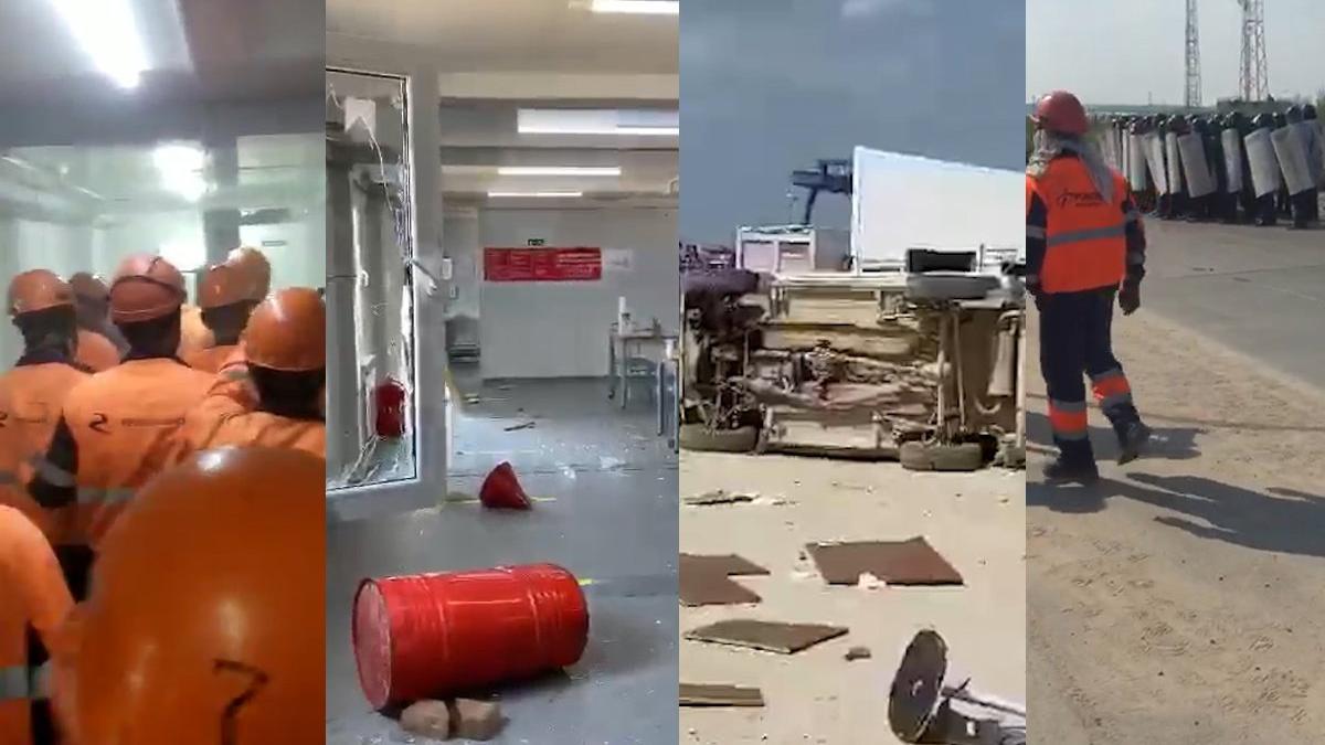 Türk şirketin Rusya'daki şantiyesinde olay! Ortalık savaş alanına döndü