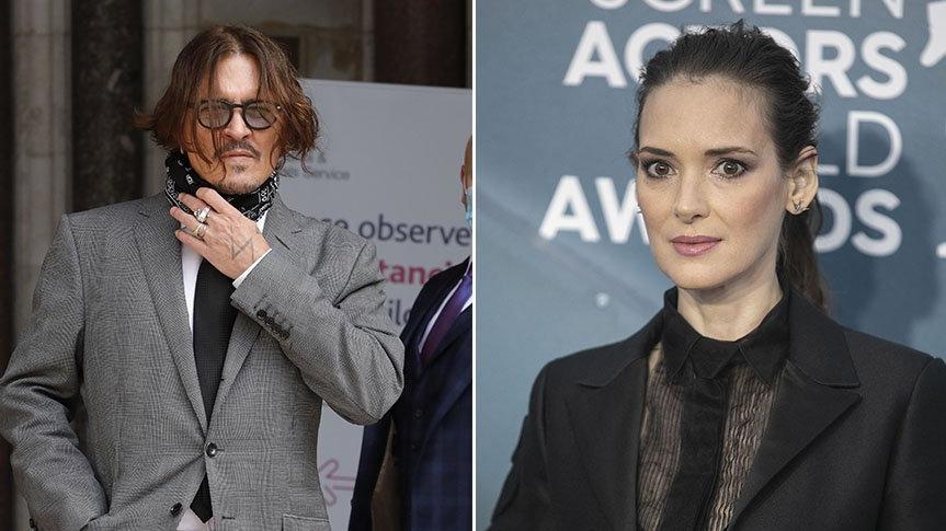 Johnny Depp'in eski nişanlısı Winona Ryder, duruşmada ifade verecek