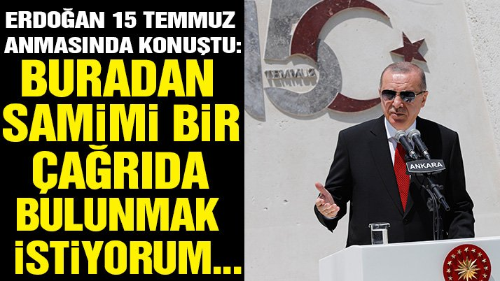 Erdoğan, TBMM'de 15 Temmuz anma töreninde konuştu…
