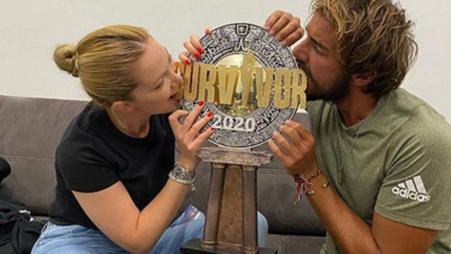 Danla Bilic ve Cemal Can Survivor 2020 kupasının tadına baktı