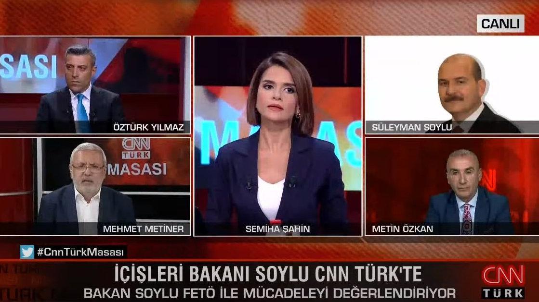 'Elimizde isimler var' diyen AKP'li Metiner ile Bakan Soylu canlı yayında tartıştı