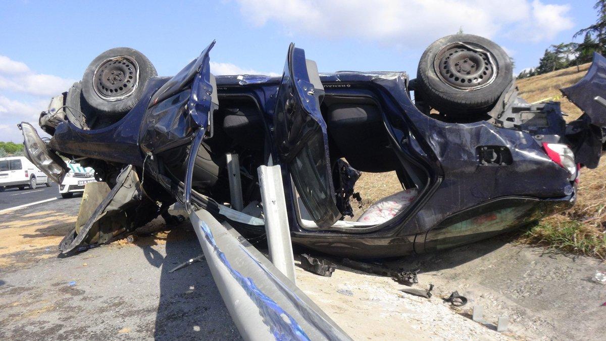 TEM'deki feci kazada can pazarı: 1 ölü 3 yaralı