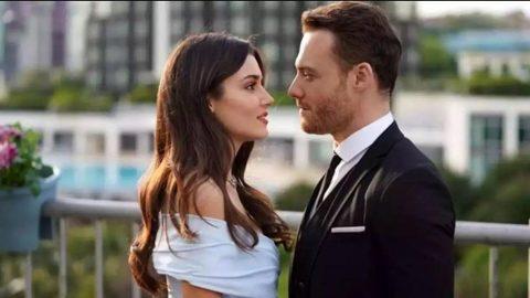 Hande Erçel'in Murat Dalkılıç ayrılığı sonrası, Kerem Bürsin ile uzun öpüşme sahnesi gündem oldu