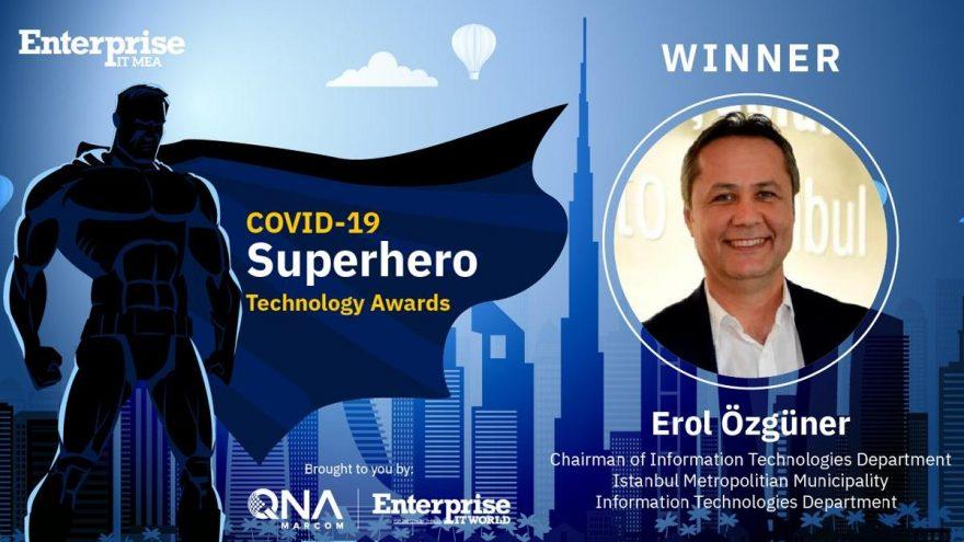 'Covid-19 süper kahraman teknoloji ödülü' İBB'ye verildi