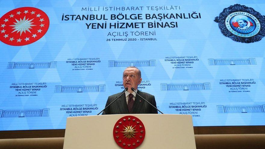 Erdoğan'dan MİT'in yeni kalesinden mesaj: İstihbarat kilit silahımız olmaya devam edecek