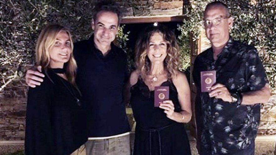 Holywood yıldızı Tom Hanks eşi ile birlikte Yunan vatandaşı oldu