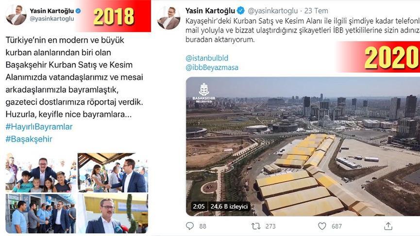 AKP'li başkan iki yıl önce övgü yağdırdı, İmamoğlu gelince şikayetçi oldu!